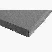 Lenzuolo in Jersey 100x200x30cm grigio