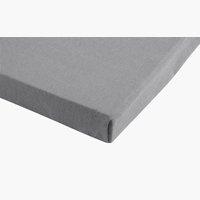 Jersey-Spannbettlaken 100x200x28 zement
