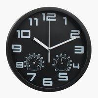 Ρολόι τοίχου SEJER Ø25cm μαύρο