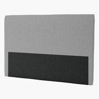 Sänggavel 180x125 H30 CURVE grå-32