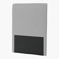 Sänggavel 105x125 H30 CURVE grå-27