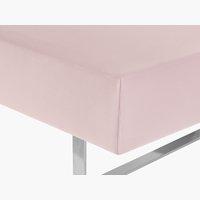 Drap housse Jersey 160x200x40cm rose