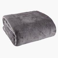Plaid GULSKOLM polaire 220x240 gris