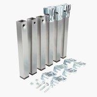 Pernas L3xA25xP3cm metal conj de 6