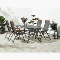 Miza LARVIK D200 + 4 stoli MADERNE