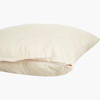 Funda almohada satén 45x170 natural