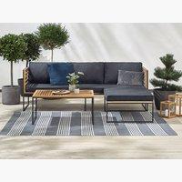 Set lounge UGILT con chaise 3 p. legno