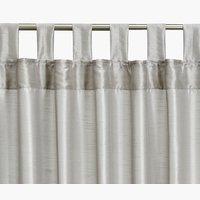 Gordijn LUPIN 1x140x245 zijdelook zilver