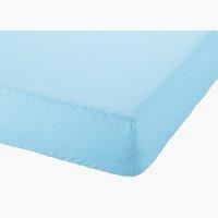Drap-housse 140x200x28cm bleu clair