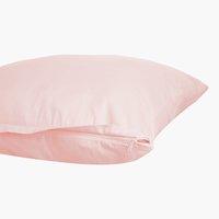 Funda almohada satén 45x95 2 uds rosa