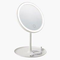 LED espelho VEDUM Ø18xA28cm branco
