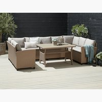 Set muebles jardín ULLEHUSE 9p c/almacen