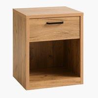 Noční stolek LINTRUP 1 zásuvka dub
