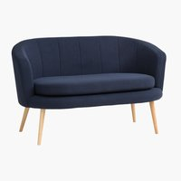Sofa GISTRUP 2-seater dark blue