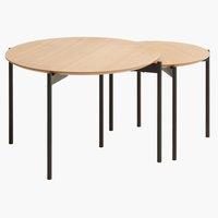 Nest of tables BRABRAND D70/50 nat/black