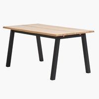 Eettafel SKOVLUNDE 90x160 eiken/zwart