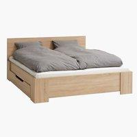 Bed frame HALD DBL light oak