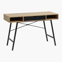 Schreibtisch ABBETVED 48x120 eiche/schw.