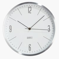 Стенен часовник HALVOR Ø30см сребрист