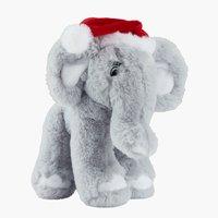 Elefante JULEHJERTE H20cm grigio