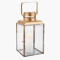 Lanterne STAUROLIT l14xL14xH27cm doré