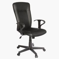 Офисное кресло SUNDS иск.кожа черный