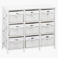 9 basket chest OURE white