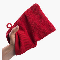 Wash glove KARLSTAD red KRONBORG