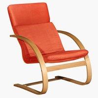 Fotel TILST terrakotta/nyírfa