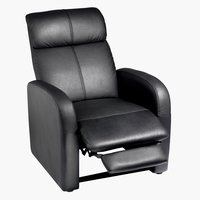Recliner HOVBORG faux leather black