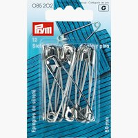Säkerhetsnålar med spole 50 mm silver
