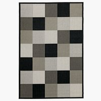 Vloerkleed RIPS 160x230 zwart/beige