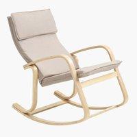 Stolica za ljuljanje EJER bež/breza