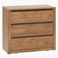 3-drawer chest VEDDE wild oak