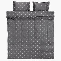 Duvet cover ANE Sateen 200x220 grey