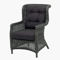 Lounge chair FALKENBERG grey