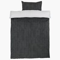 Duvet cover KARIN SGL white/black