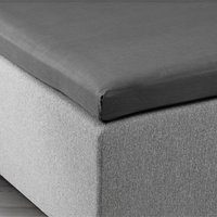 Kuvertlakan 80x200x6-10cm grå