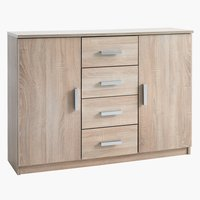Sideboard KABDRUP 2 door 4 drw oak