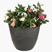 Flower pot HVEPS D53xH40cm polystone
