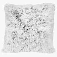 Cushion LOTUS 50x50 fake fur white/grey