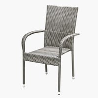 Stacking chair GUDHJEM steel/petan grey