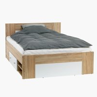 Bed frame FAVRBO 160x200cm oak/white