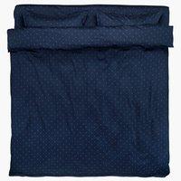 Спално бельо с чаршаф STELLA DBL синьо