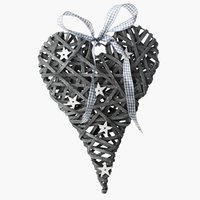 Ozdoba - serce EKLOGIT W28cm szare