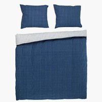 Duvet cover KARIN DBL white/blue