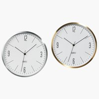 Wall clock HALVOR D30cm assorted
