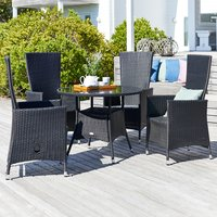 Table RJUKAN D95cm+4 chairs SKIVE