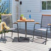 Stůl YTTRUP D61 cm + 2 židle LARVIK