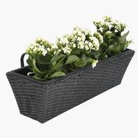 KORP кутия за цветя за балкон 20х60х19